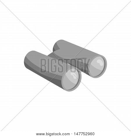 Binoculars icon in black monochrome style isolated on white background vector illustration