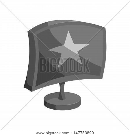 Internet advertising on dispaly icon in black monochrome style isolated on white background vector illustration