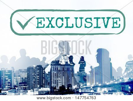 Exclusive Individual Personal Privacy Graphic Concept