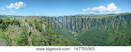 Susica Canyon from Nedajno in Durmitor National Park, Montenegro
