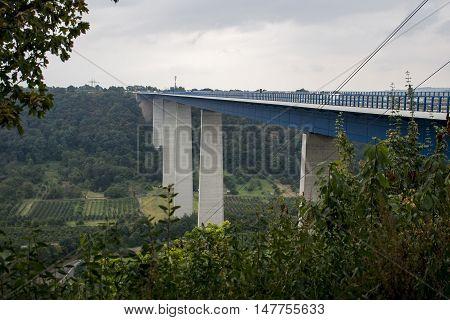 Famous German Wine Region Moselle River with bridge in Winningen 5