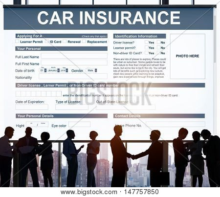 Car Insurance Form Accidental Concept