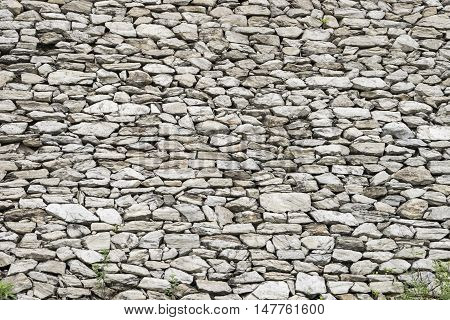 close up of stone wall and background