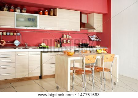 close up shot of domestic kitchen.