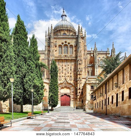 Patio Chico and New Cathedral in Salamanca, Spain