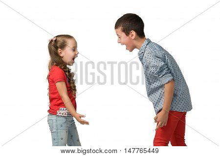 conflicts between little children. quarrels and aggression