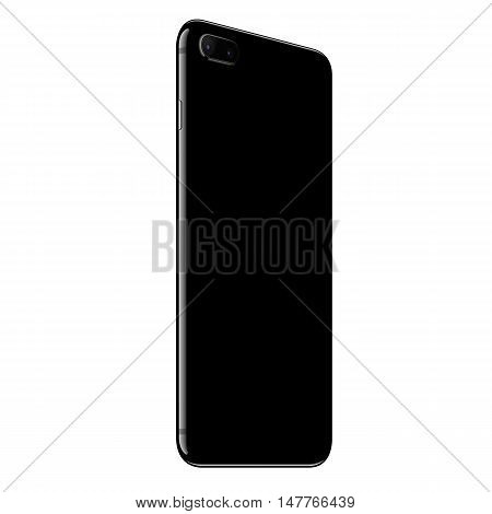 vector design mock up phone back side perspective view