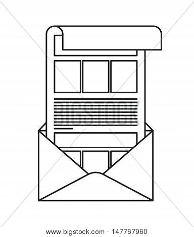 Envelope icon. Email message and letter theme. Isolated design. Vector illustration