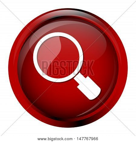 Magnifying glass icon Search icon button vector