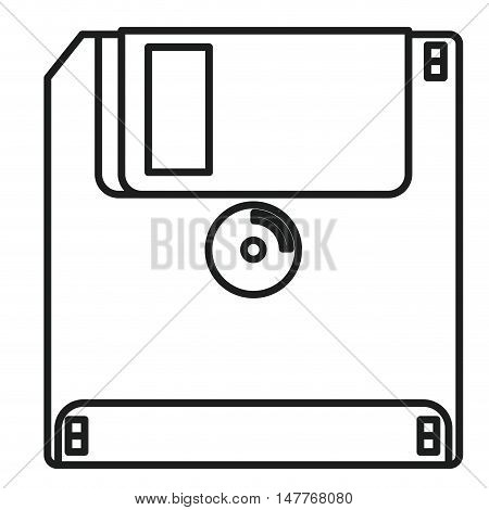Diskette icon. Technology gadget and communication theme. Isolated design. Vector illustration