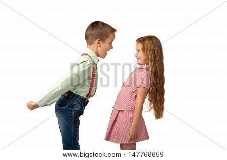 conflicts between little children. quarrels and aggression