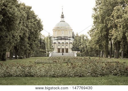 Poznan, Poland - July 25, 2016: Aged Photo, View On Church Of St. John Vianney In Poznan