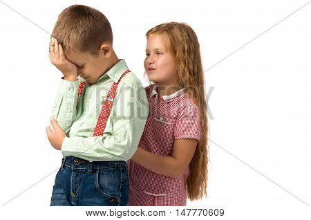 conflicts between little children. quarrels and offense