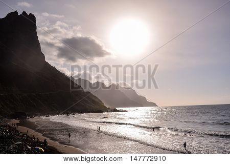 Benijo Beach On The North Of Tenerife, Spain