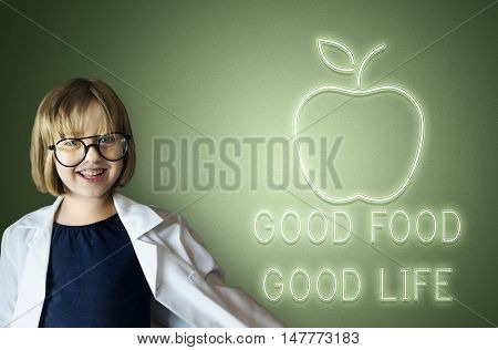 Good Food Good Life Healthy Wellbeing Concept
