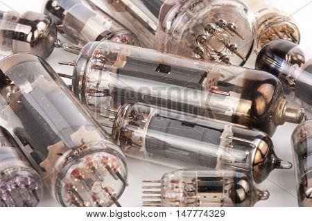 old electronic radio tube