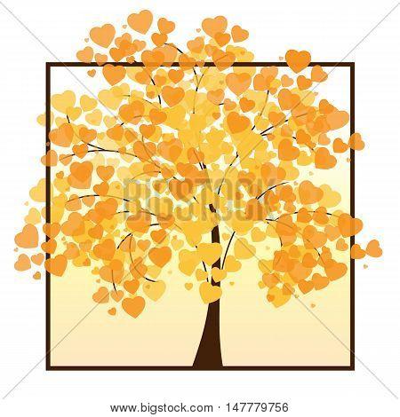 Beautiful autumn tree for your design. Vector illustration EPS 10