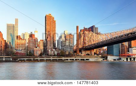Ed Koch Queensboro Bridge from Manhattan. It is also known as the 59th Street Bridge as it is located between 59th and 60th Streets.