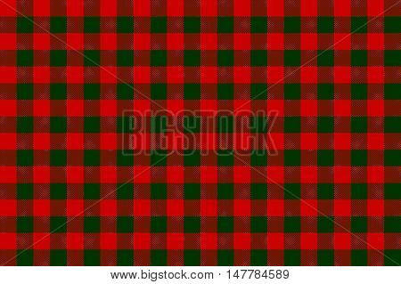 Red green check seamless background. Vector illustration.