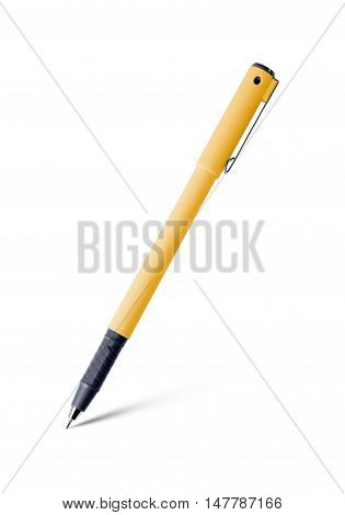 The pen isolated on white background .