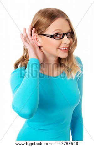 Woman overhears a conversation
