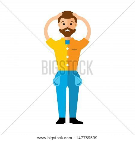 Businessman has no money. Isolated on a white background