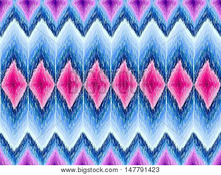 Ethnic zig zag ornament. Chevron pattern. Boho style background. Hippie fashion fabric. Vector seamless texture for web design wrapping paper clothes or interior textile.