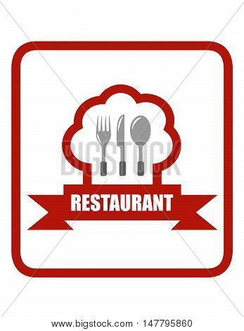 red restaurant icon. cooking concept icon for restaurant menu