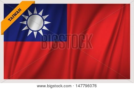 National flag of Taiwan - waving edition