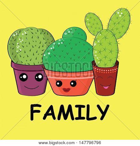 Hilarious Family Of Cacti