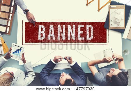 Banned Denied Declined Negative Stamp Concept