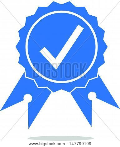 Simple and Flat Approved or Certified or Yes Icon