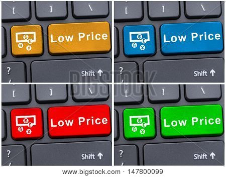 Colored Buttons With Low Price Message