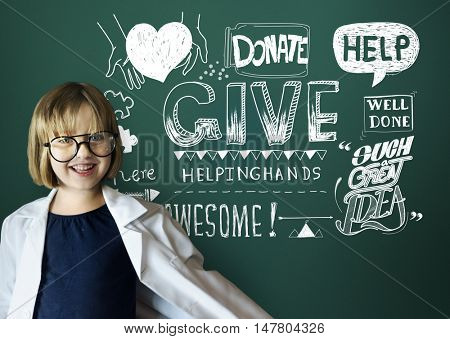 Give Donate Helping Hand Support Concept