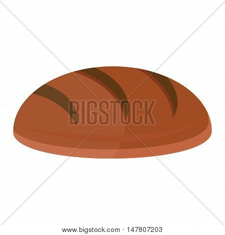 Bread isolated on white background. Bread vector food and fresh tasty vector. Bread breakfast loaf white wheat diet