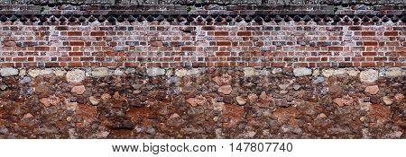 together old masonry and brickwork walls. Background