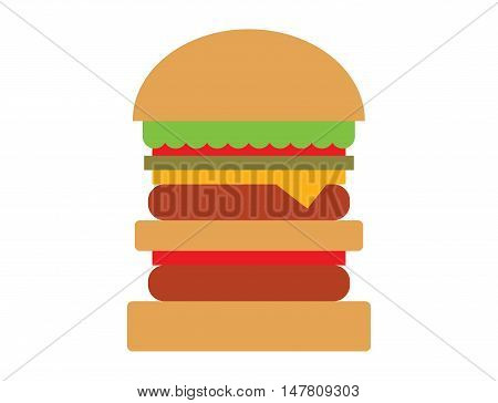Hamburger fast food and hamburger tasty grilled american dinner. Hamburger classic cuisine gourmet fast food. Hamburger cheeseburger. Hamburger with meat, lettuce and cheese sandwich fast food
