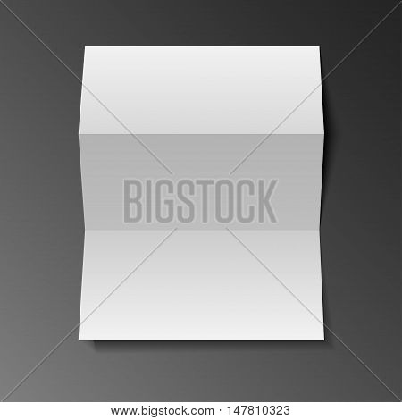 Blank Trifold Paper Leaflet Mock Up Template Ready For Your Design. Vector EPS10