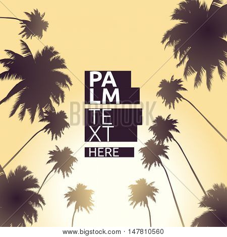 Vector background illustrations with palm trees