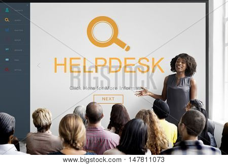 Customer Service Helpdesk Information Descover Concept