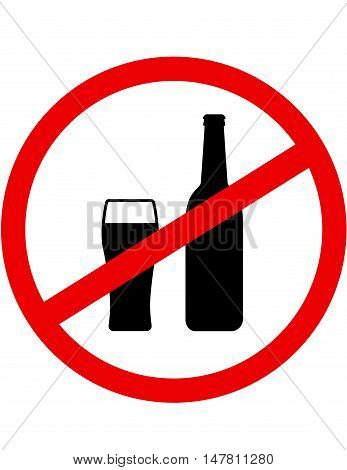 Sign Stop Alcohol With Beer