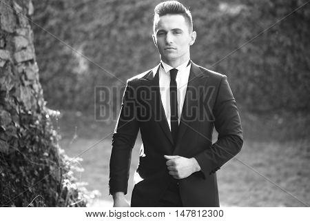 Elegant Man On Landscape