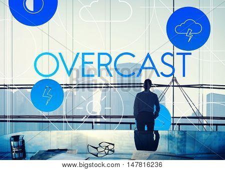 Overcast Forecast Season Temperature Cloud Concept