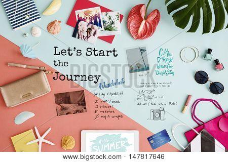 Let's Starrt The Journey Travel Concept