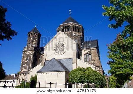 Church Of The Sacred Heart In Aachen, Germany