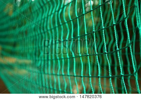 stretched mesh background in rope Sports Park
