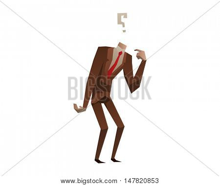 Businessman with no head vector illustration