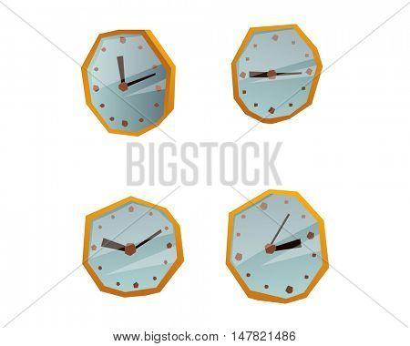Clock face watch vector illustration