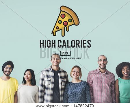Calories Junk Food Unhealthy Obesity Concept