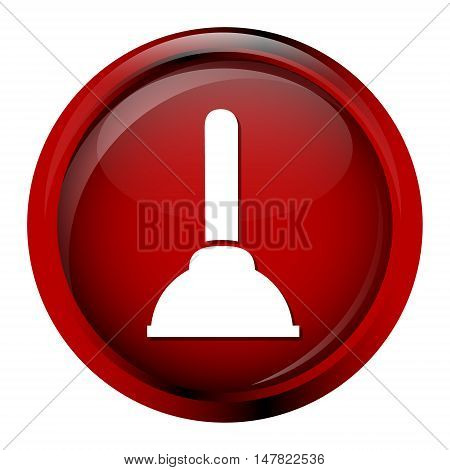 Plunger toilet icon. cleaner symbol vector illustration